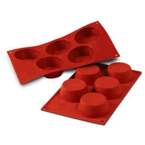 FORMA MINI - MUFFIN DA 5 PROFESSIONALE IN SILICONE cm.8,1x3,2
