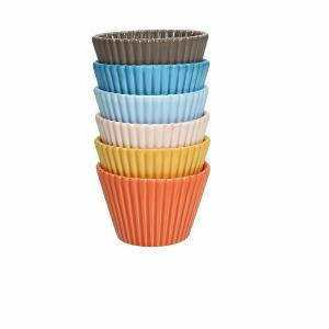SET 6 pz. MEDIUM CUP CAKES PORCELLANA diam.8 H5 MIGNON MULTICOLOR