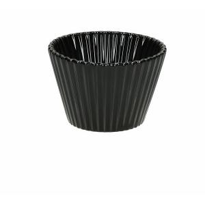 SET 6 pz. MEDIUM CUP CAKES PORCELLANA diam.8 H5 MIGNON NERO